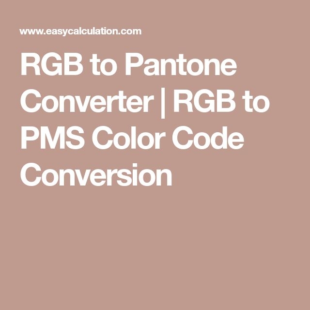 RGB to Pantone Converter | RGB to PMS Color Code Conversion