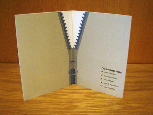 Zippered brochure design