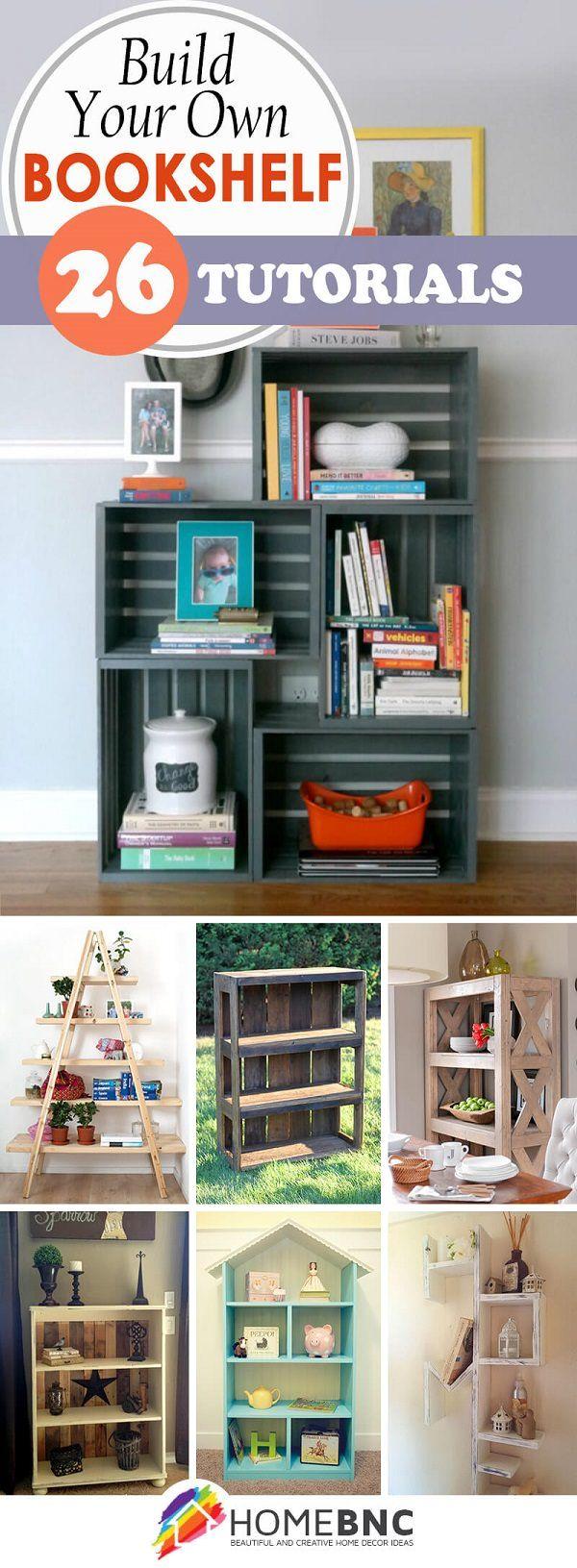 Best 25 bookshelf makeover diy ideas on pinterest for Build your own bookshelves plans