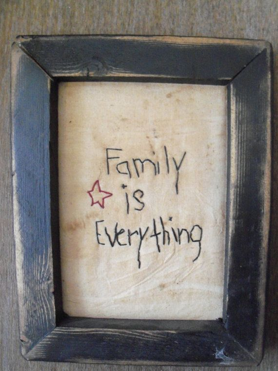 Primitive Stitchery Picture Framed Family is by DarkForestFolkarts, $15.00