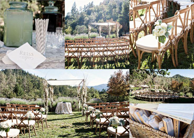 Ceremony Decor Details Venue Napa California Calistoga Ranch Laurie