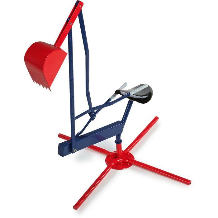 En klassisk grävmaskin i metall med grävskopa för barn att leka med i sandlådan.  Fakta Grävmaskin med skopa och vridbar bas. Från ålder 3+ ca. Mått: 135 x 70 x 70  cm. Vikt: 3,5 kg.