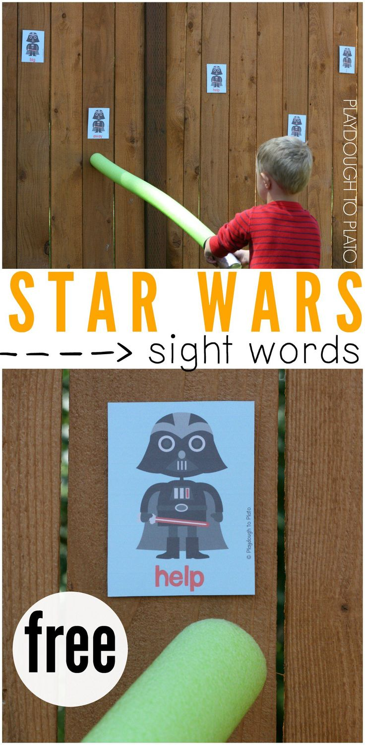 Star Wars sight word game - also use for full stops, question marks, exclamation marks