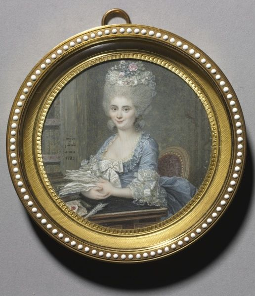 Portrait of a Woman in a Blue Dress, 1783, André Pujos