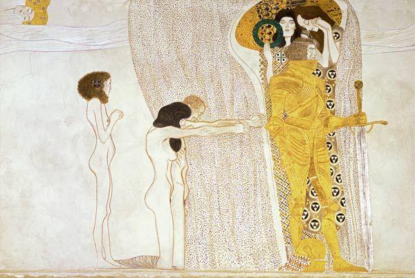 Gustav Klimt - Beethoven frieze: The desire for the luck