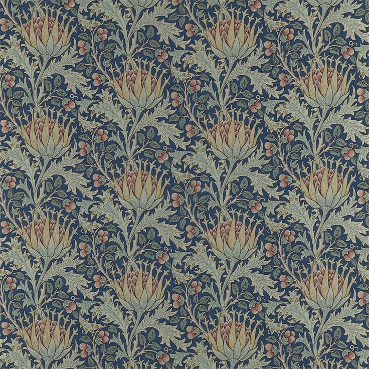 The Original Morris & Co - Arts and crafts, fabrics and wallpaper designs by William Morris & Company | Products | British/UK Fabrics and Wallpapers | Artichoke (DKELAR302) | Pimpernel Weaves