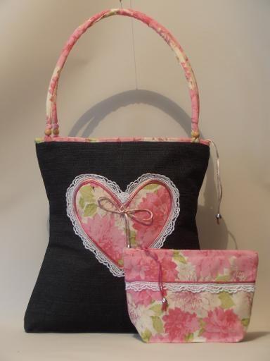 Valentine sweetheart denim bag