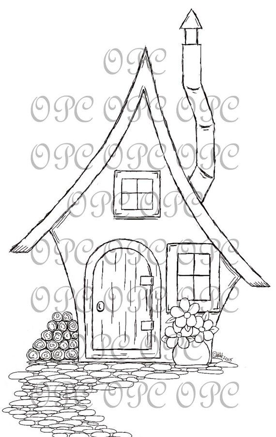 Sello de digital Home Sweet Home por OakPondCreations en Etsy