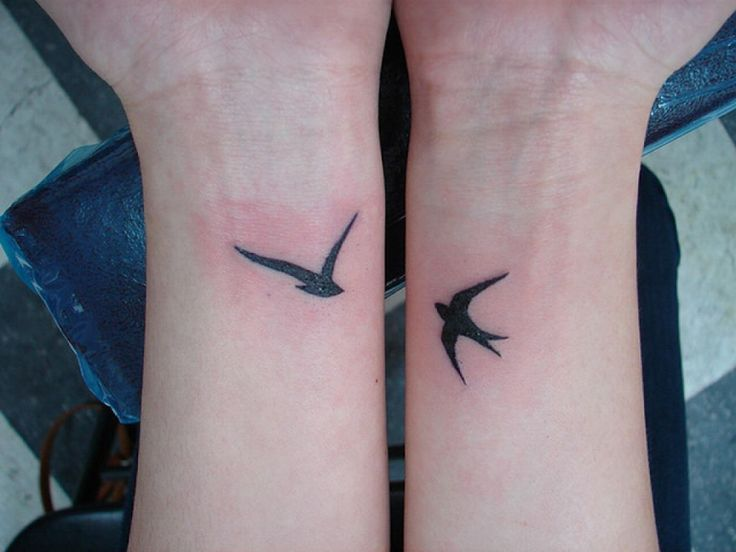 Small Bird Tattoos On Wrist
