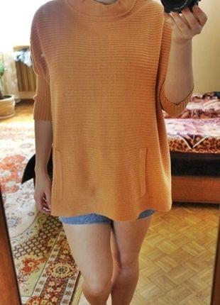 Kup mój przedmiot na #Vinted http://www.vinted.pl/damska-odziez/swetry-z-dzianiny/8672157-oryginalny-brzoskwiniowy-sweter-oversize-z-kieszonka
