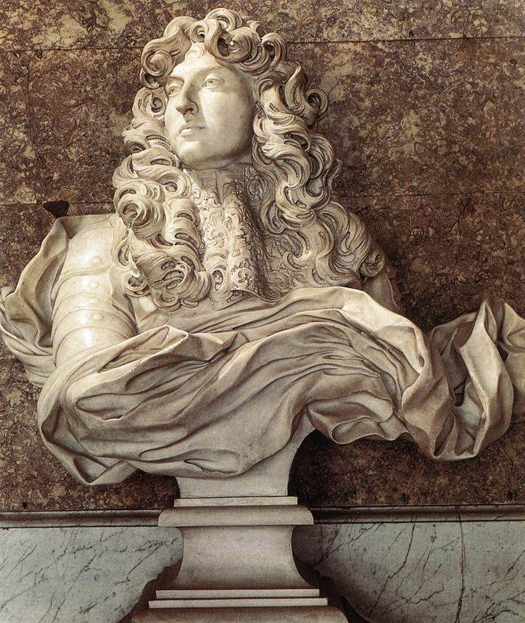 BERNINI, Gian Lorenzo Bust of Louis XIV 1665 Marble, height 80 cm Musée National de Versailles, Versailles
