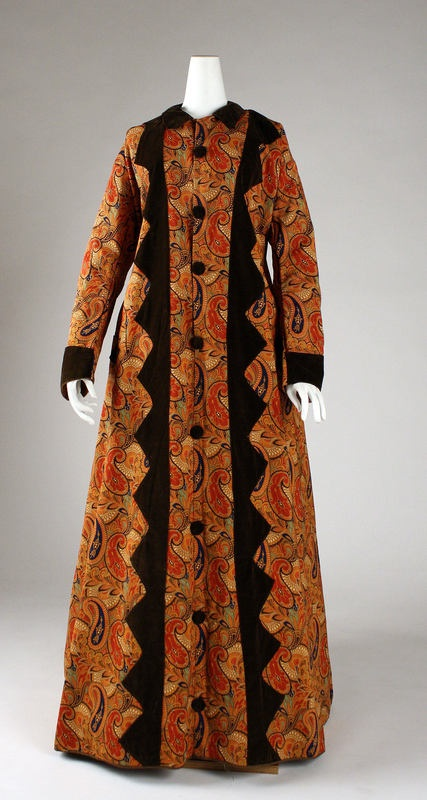 1870's dressing gown