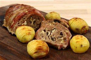 Farsbrød med champignon og bacon 4