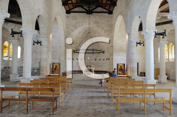 Royalty Free Photo of the Interior of The Church of the First Feeding of the Multitude at Tabgha, Near Capernaum