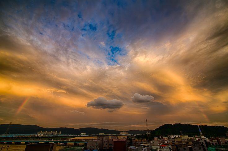 Rainbow Sunset in Ulsan
