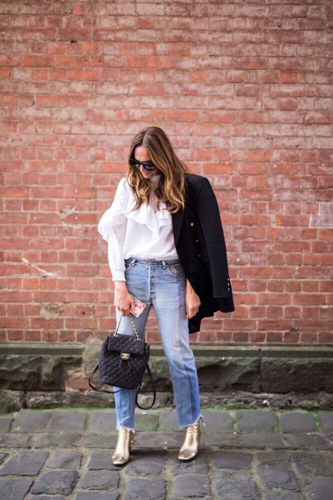 It's the subtle tweaking of a jean that can update your entire look, try a cropped asymmetrical hem. www.stylestaples.com.au