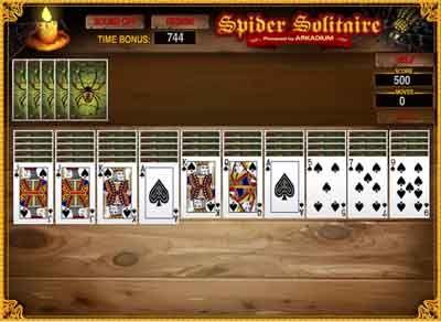 solitario spider  juegos de cartas solitario