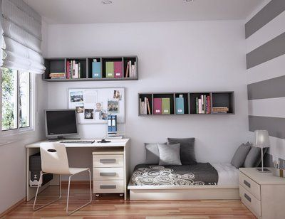 simple guest room/ office - needs a bookcase and plant :)