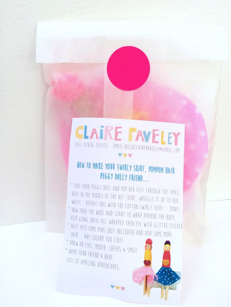 peggy doll craft kit by clairepaveley on Etsy https://www.etsy.com/listing/239339440/peggy-doll-craft-kit