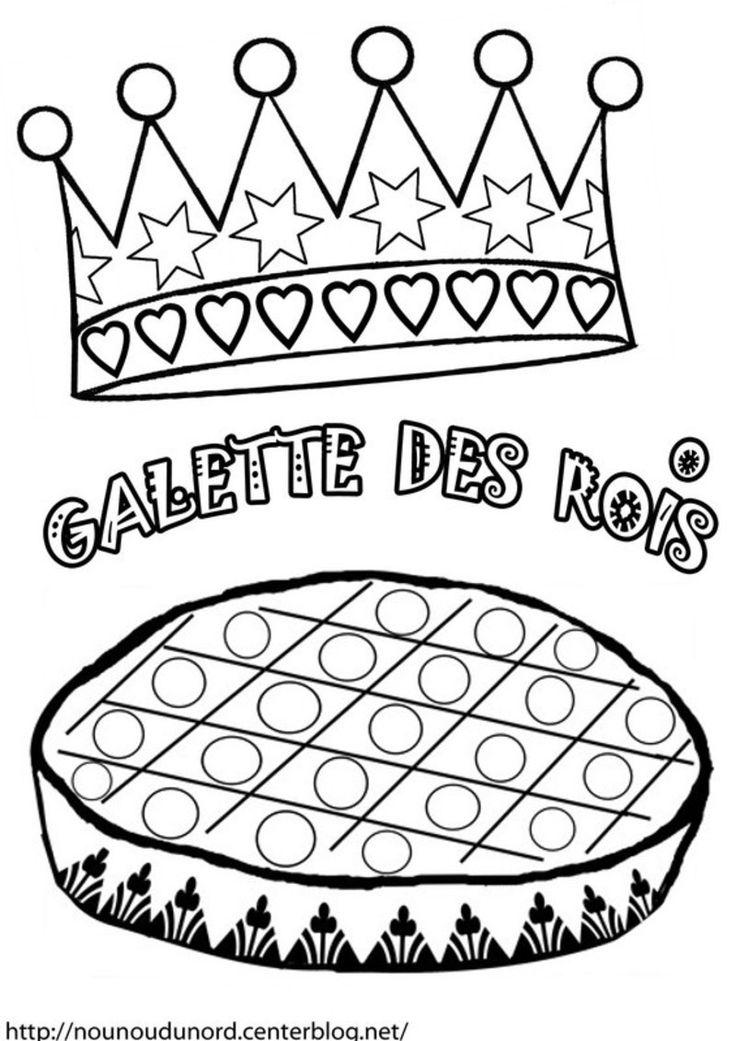 coloriage galette des rois epiphanie