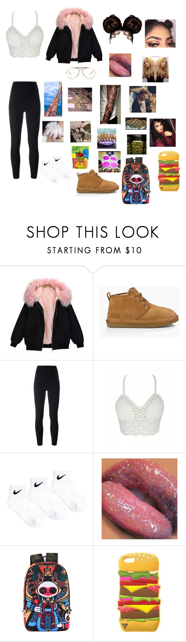 """""""We Get High"""" by cocorai ❤ liked on Polyvore featuring UGG Australia, Yeezy by Kanye West, NIKE and CÉLINE"""