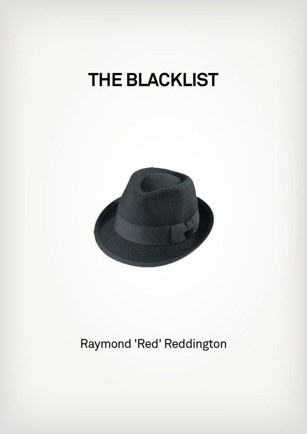 The Blacklist (2013–) ~ Minimal TV Series Poster by Besim Hakramaj ~ Famous Hats from TV Shows #amusementphile