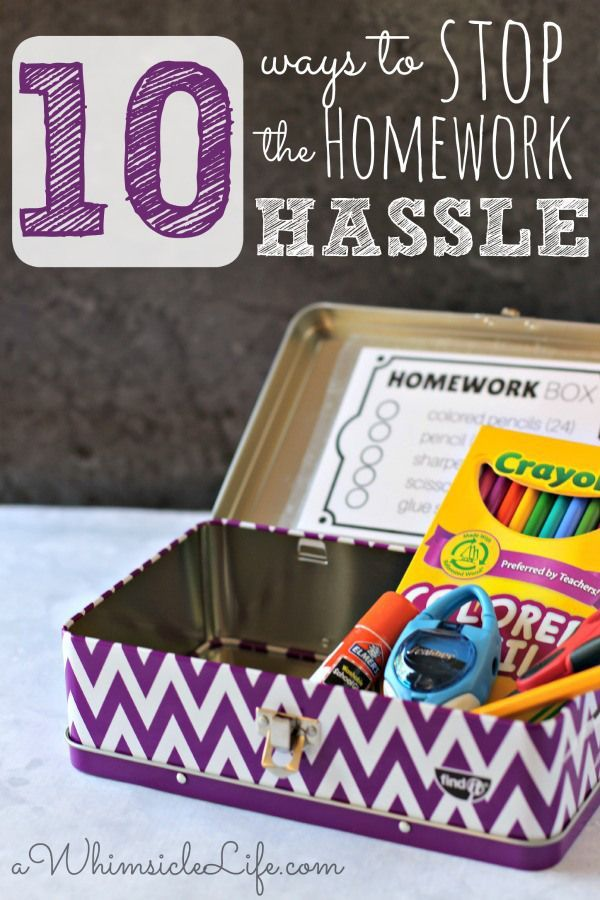 These 10 strategies are so fantastic and have saved me TONS of stress as a parent.  It's possible not to fight at homework time!  This post also has printouts to help your child organize and make the after school routine a breeze!