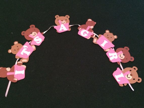 Teddy Bear Picnic Baby Shower It's a girl Banner by NottJustBows