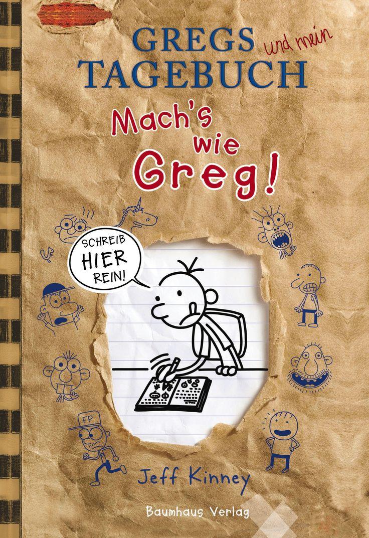 """In dieses Freundebuch können alle Fans von Gregs Tagebuch ihre geheimsten Geheimnisse und natürlich ihre besten Freunde eintragen und diese reinschreiben lassen. Hier kommen coole Abenteuer und Erlebnisse, Lebensgefühle, Träume, vielleicht Familienregeln (auch solche die nerven) und in jedem Fall lustige Zeichnungen rein. Es gibt Tagebuchseiten und interaktive Teile sowie Comics zum Weiterzeichnen. Außerdem als Bonus: neue Cartoons von Greg und erste Seiten aus """"Rowleys Tagebuch""""."""