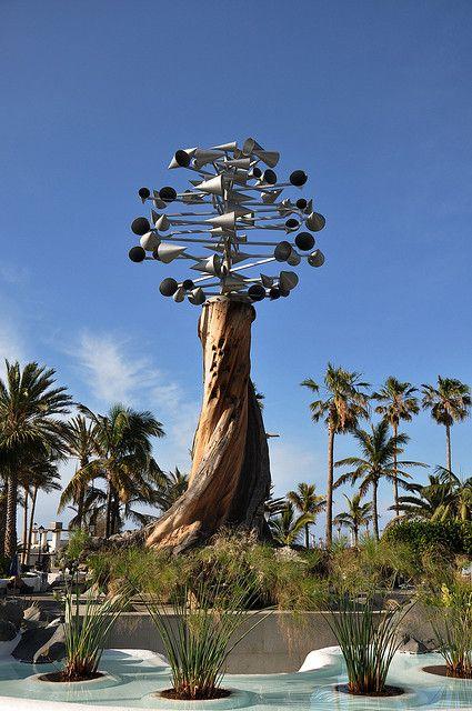 Wind sculpture by Cesar Manrique, Puerto de la Cruz, Santa Cruz de Tenerife.