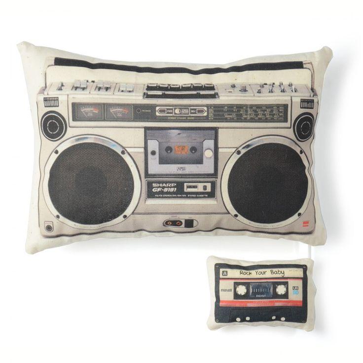 #retro #musical #cushion #boysroom #coolkids | French Blossom
