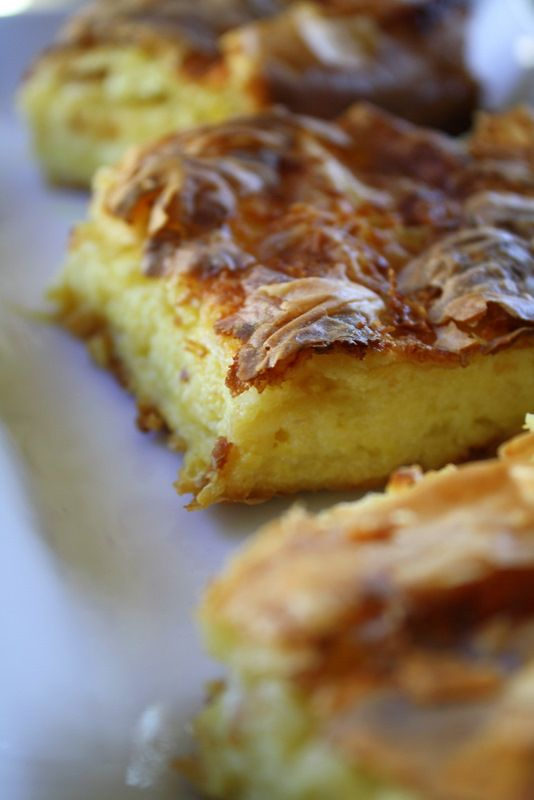 ~Greek Kaseri Cheese Pie — Κασερόπιτα Slightly adapted from a recipe on Syntages … apo Spiti~  #greek