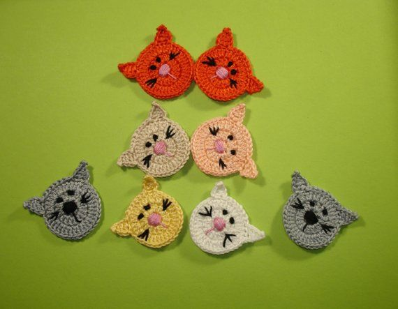 handmade crochet owl applique//embellishment// card making