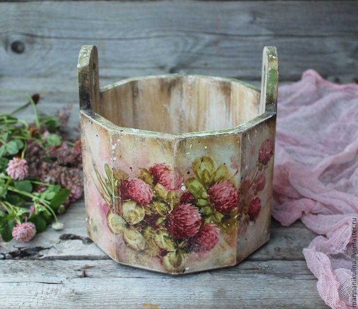 """Купить """"Медовый клевер"""" кадушка - кремовый, розовый, малиновый, лето, клевер, клевер на удачу"""