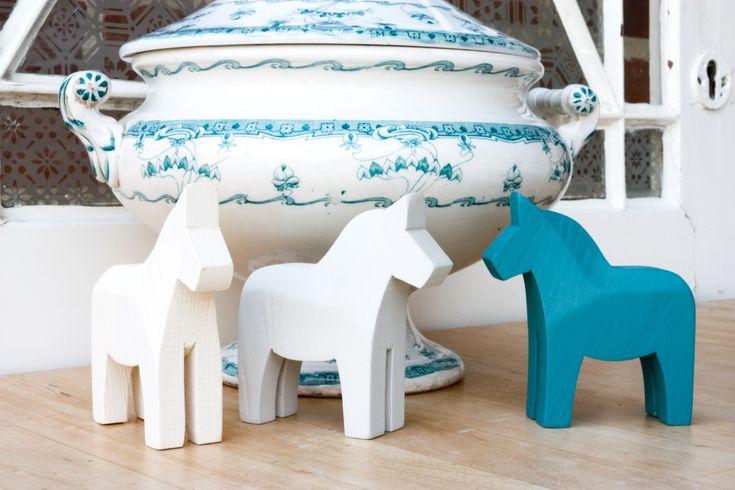 Dala horses - Swedish Blue - Dala Muses