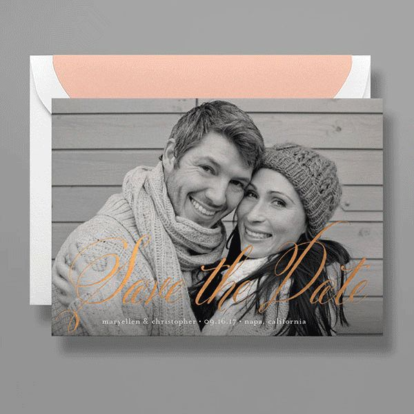 See how you can customize one wedding save-the-date design three different ways. Customize this design in-store for your photo: http://www.kleinfeldpaper.com/retailer_locator.cfm