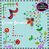 Watercolor Corner Border Clip Art