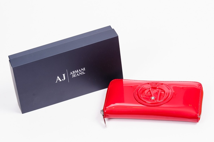 Armani Jeans SS2013 Red Wallet