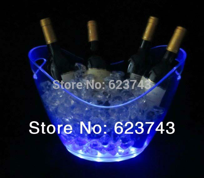 5 peças de plástico balde de gelo sl-lic03b, Mudança de cor de plástico banheira de gelo, Gelo luminoso balde de gelo mais frio, Brilho barril de cerveja alishoppbrasil