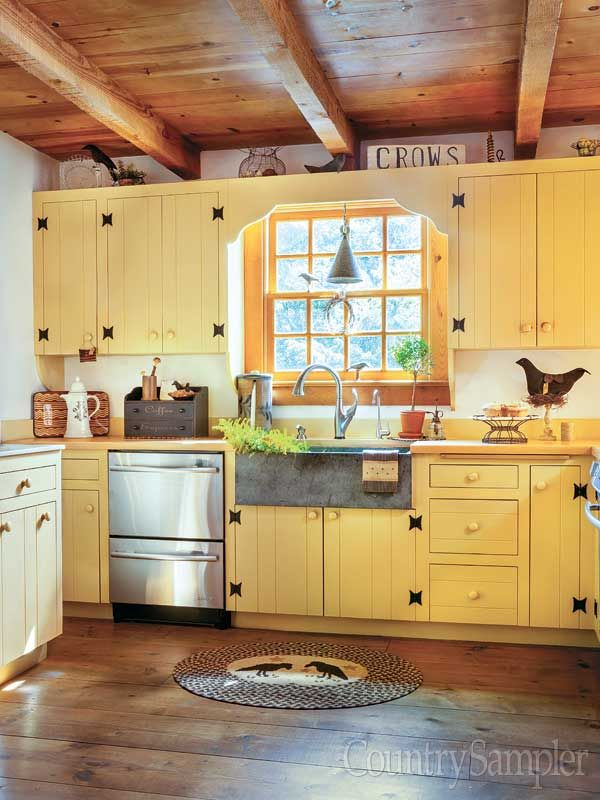 390 best country sampler magazine images on pinterest for Country kitchen paint colors