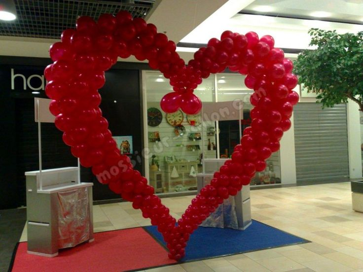 32 best images about san valentin on pinterest heart for Balloon decoration for valentines day