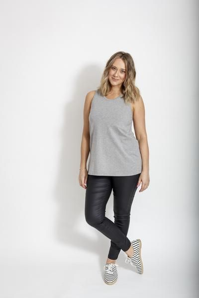 Palm Beach Tank - Grey Marle