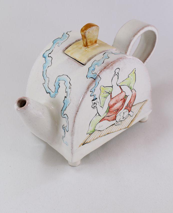 lady & cat II teapot by Giannis Agathos