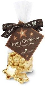 Chocolate Trading Co Gold Christmas chocolate stars - Bulk box of 220 Christmas chocolate stars wrapped in gold foil. Made from high quality milk chocolate. Ideal for Christmas chocolate token gifts. Available in gift bags or bulk boxes at trade cost. http://www.comparestoreprices.co.uk/food-delivery/chocolate-trading-co-gold-christmas-chocolate-stars--bulk-box-of-220.asp
