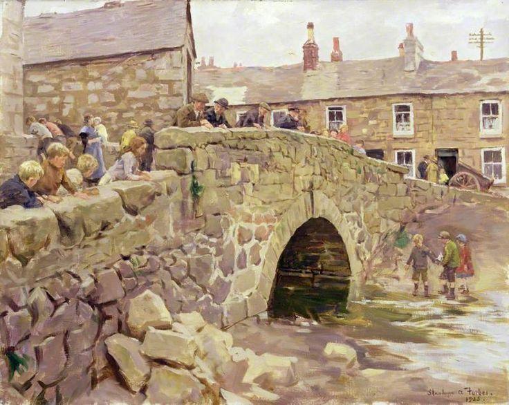 Stanhope Alexander Forbes (Irish, 1857 - 1947)  On the Bridge 1925