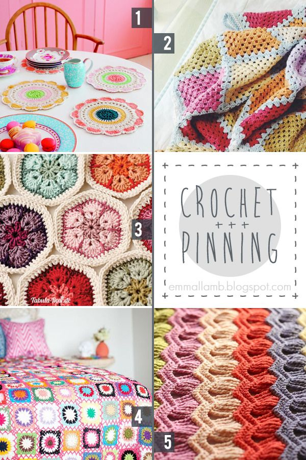 crochet pinning : happy colours! / Favourite picks from the Makers on Pinterest …