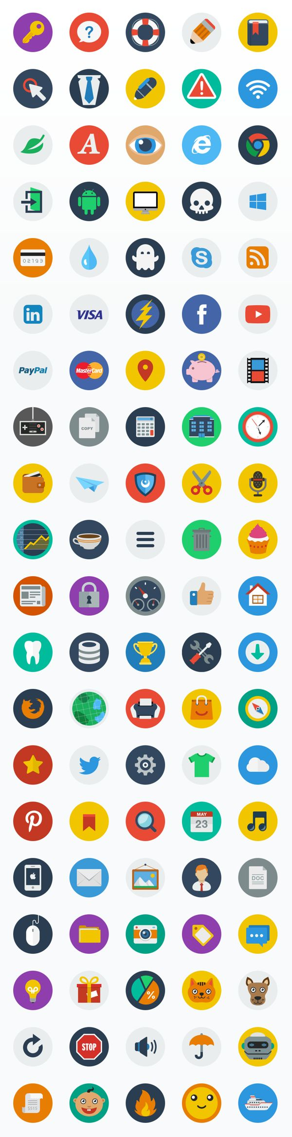 CreAtive - Flat ICON Set by CreAtive Web Themes, via Behance