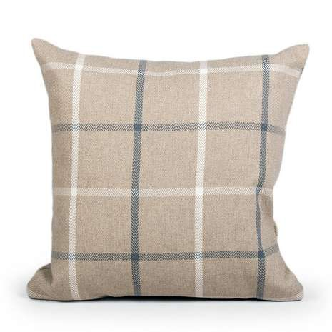 Crafted with a classic checked design and featuring a traditional herringbone texture, this square cushion is available in a range of colours....