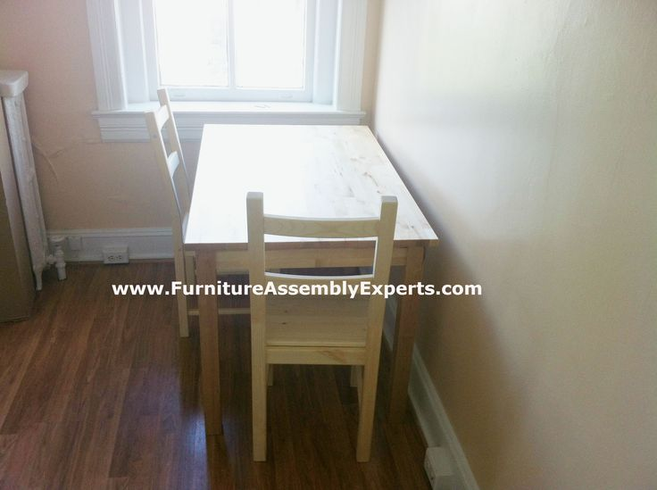 ikea dining table set  assembled in fort washington MD by Furniture Assembly Experts LLC