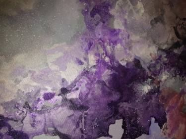 "Saatchi Art Artist Aria Dellcorta; Painting, ""Violet Dreams"" #art #artist #energy #painting #artforsale #gallery #soul #academicart #myart #original #interiordesign"